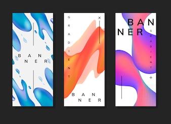 Fluid gradient background templates