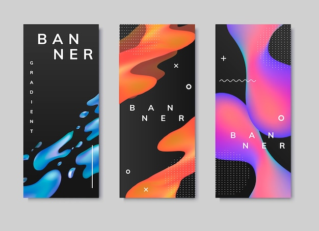 Fluid gradient background templates
