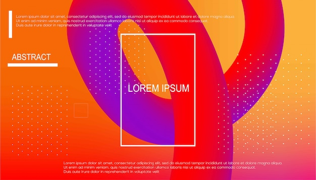 Fluid gradient shapes background