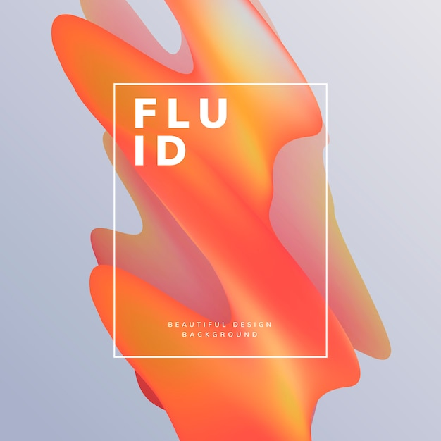 Fluid gradient wallpaper design