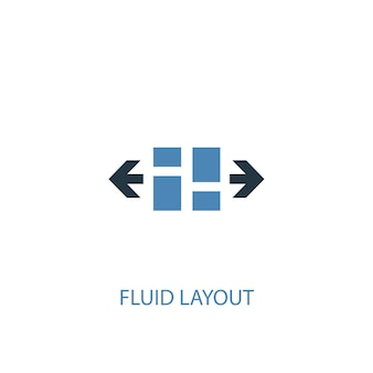 Fluid layout concept 2 colored icon. simple blue element illustration. fluid layout concept symbol design. can be used for web and mobile ui/ux