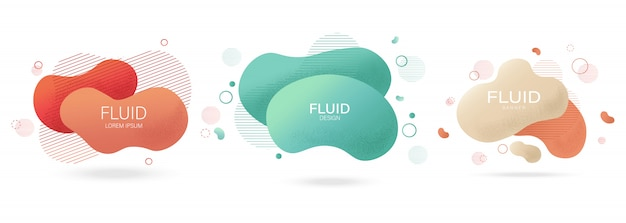 Fluid lines design with colorful red waves and curly lines