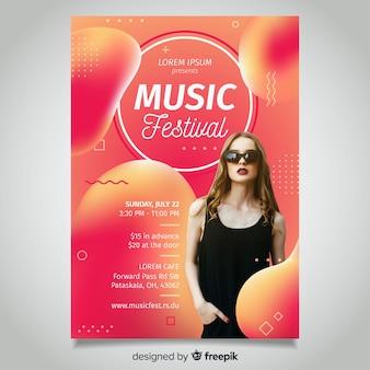 Fluid music festival poster