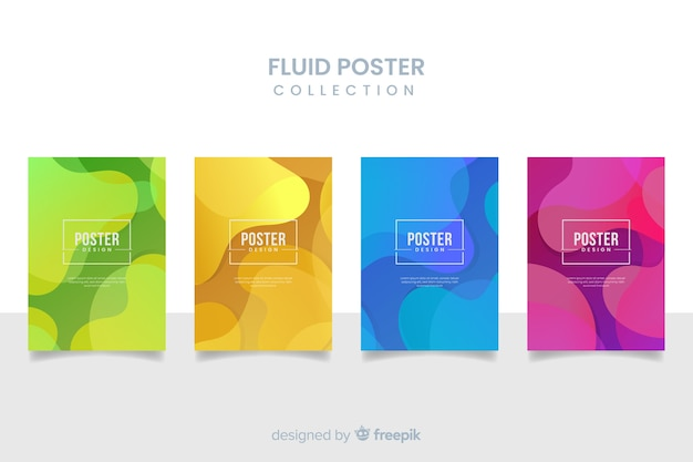 Raccolta di poster fluido