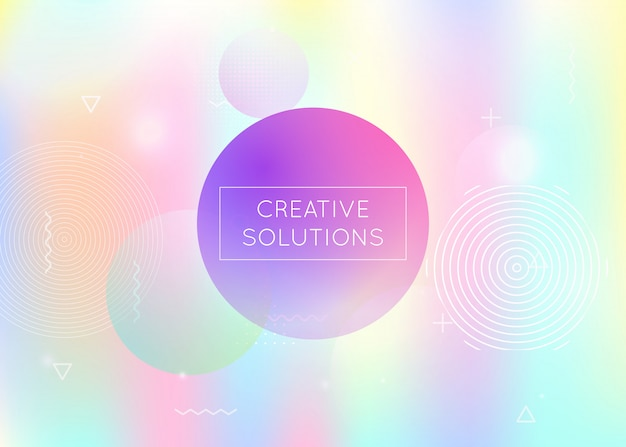 Fluid shapes background with liquid dynamic elements. holographi