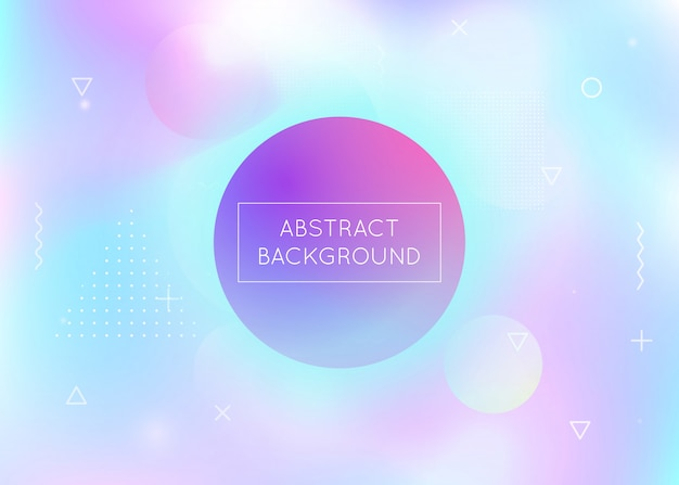 Fluid shapes background with liquid dynamic elements. holographic