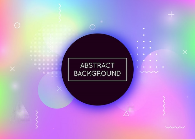 Fluid shapes background with liquid dynamic elements, holographic