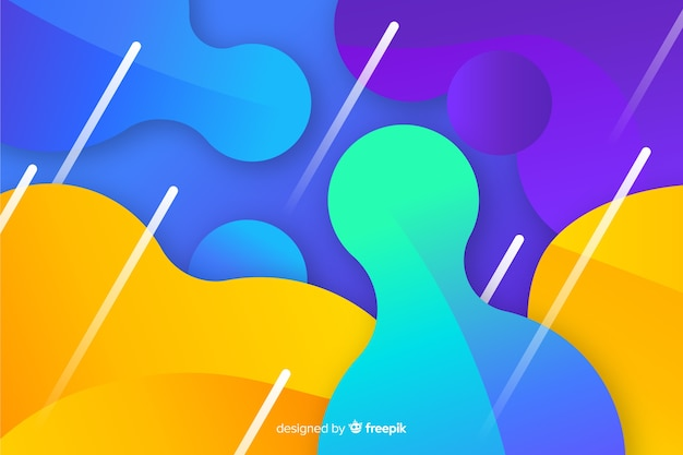 Fluid shapes background