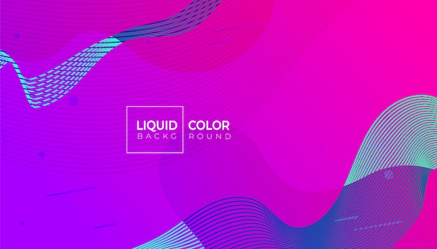 Fluid shapes banner