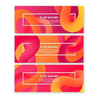 Fluid shapes banners