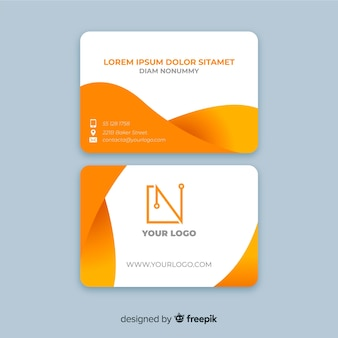 Fluid shapes business card template