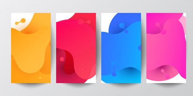 Fluid shapes composition