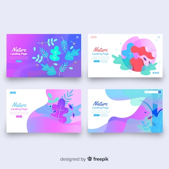 Fluid shapes landing page