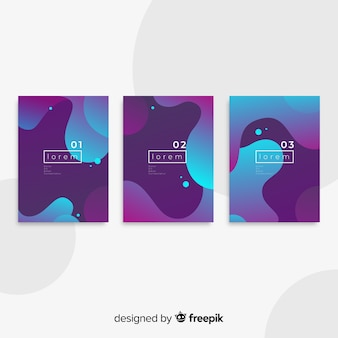 Fluid shapes poster collection