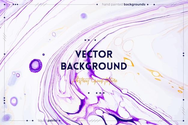 유체 질감. 추상적 인 소용돌이 페인트 효과와 배경입니다. 흐르고 튀는 액체 아크릴 삽화.