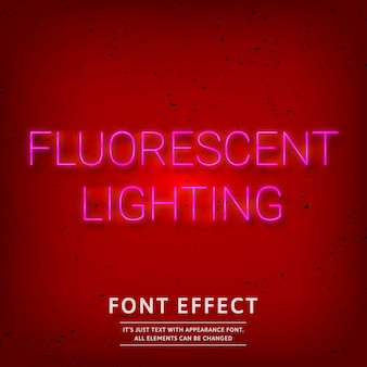 Fluorescent lighting font effect