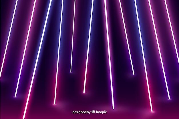 Fluorescent neon lights stage background