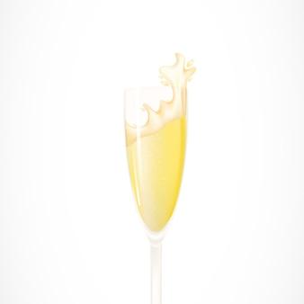 Flute of champagne illustration