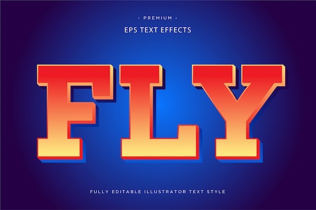 Fly 3d текстовый эффект fly text style