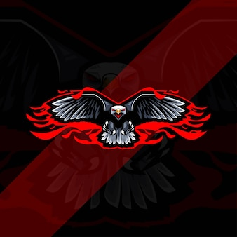 Fly eagle mascot logo