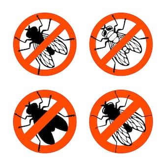 ハエ昆虫禁止標識