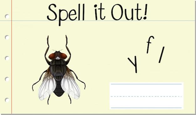 Заклинание английского слова fly