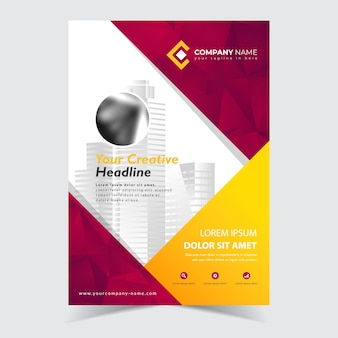 Flyer abstract template design