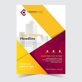 Flyer abstract template