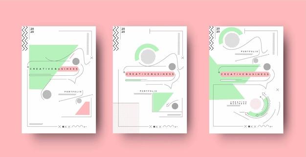 A4サイズのテンプレートイラストのチラシアンプポスターカバーデザイン