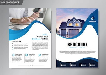 Шаблон флаера и брошюры для оформления годового отчета