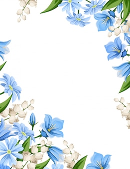 春の花とチラシの背景。図。