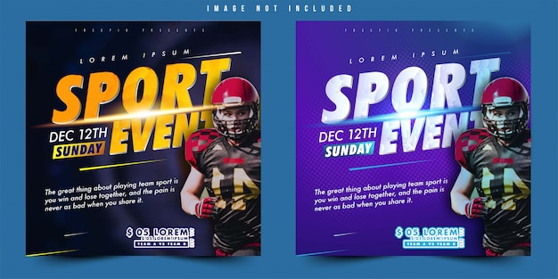 Flyer or banner design vector sport event football soccer with simple layout