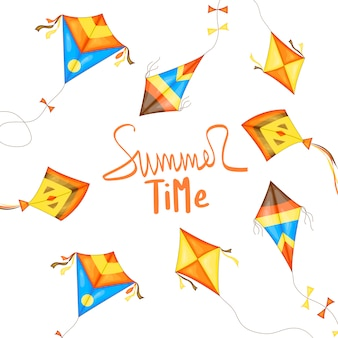 Flyer, banner for the summer sale.