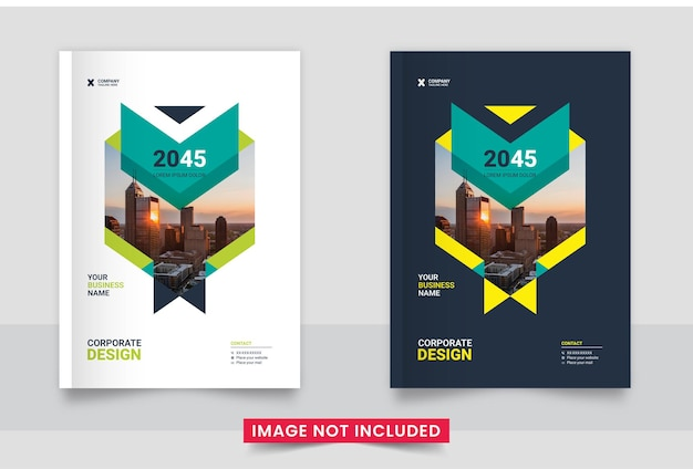 Flyer book cover template design set in a4 size