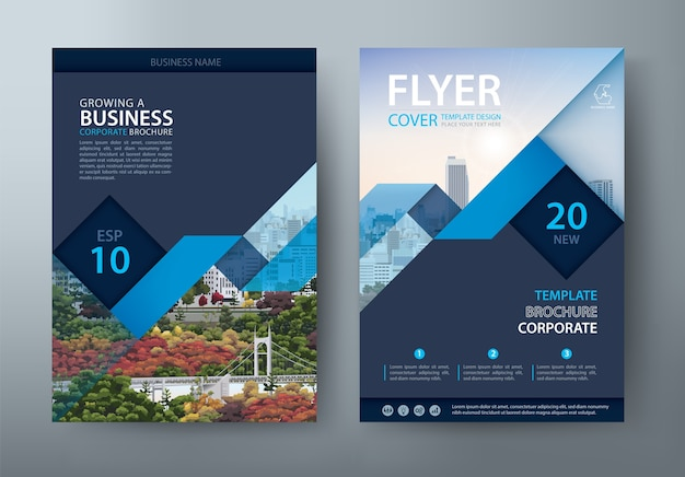 Flyer, book cover templates, layout