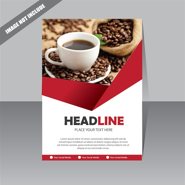 Флаер брошюра обложка годовой отчет бизнес-шаблон