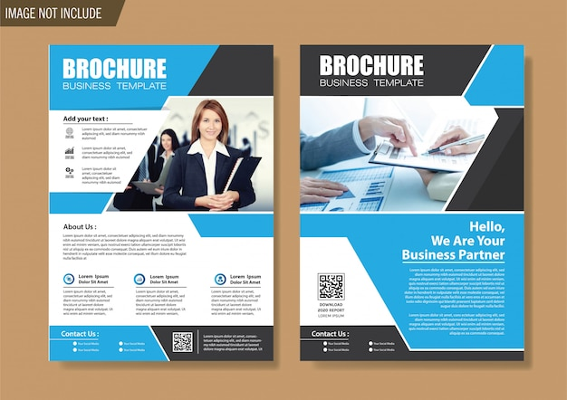 Flyer and brochure template for design annual report