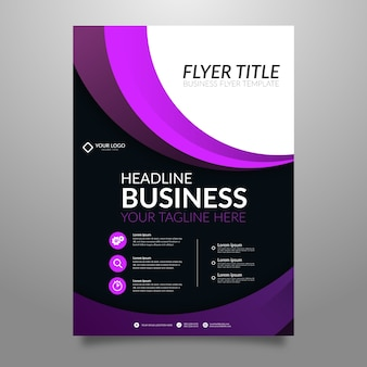 Flyer for business abstract style