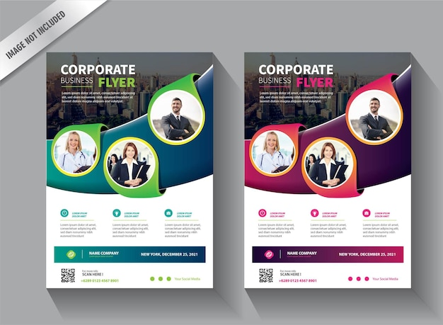 Flyer business template for annual report or brochure