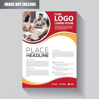 Flyer business template for background  brochure