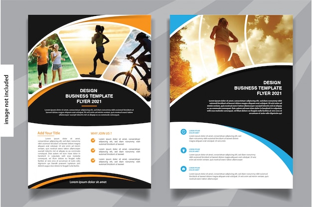 Flyer business template for cover brochure corporate
