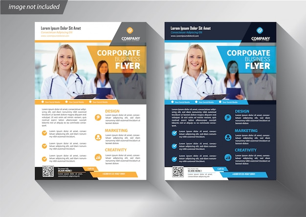 Flyer business template with modern corporative design