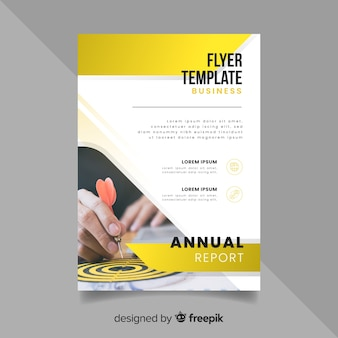 Flyer business template with photo