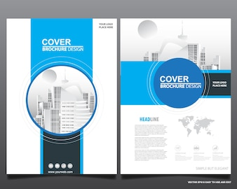Flyer cover business brochure vector design,