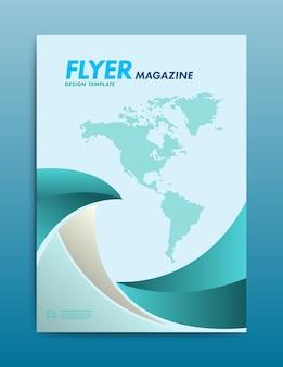 Flyer or cover design. vector illustration.