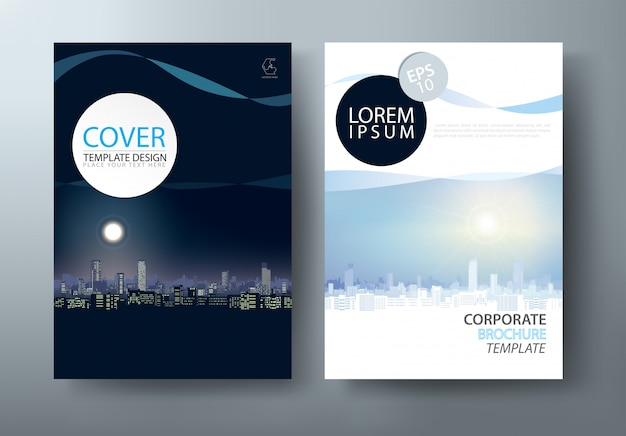 Flyer, cover template.
