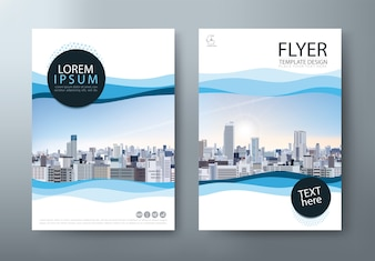 Flyer, cover templates, layout in A4 size.