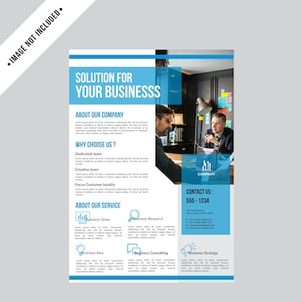 Flyer creative business brochure design template