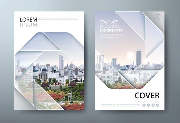 Flyer design book cover templates layout in a4 size