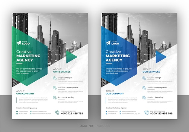 Flyer design template for creative business agency